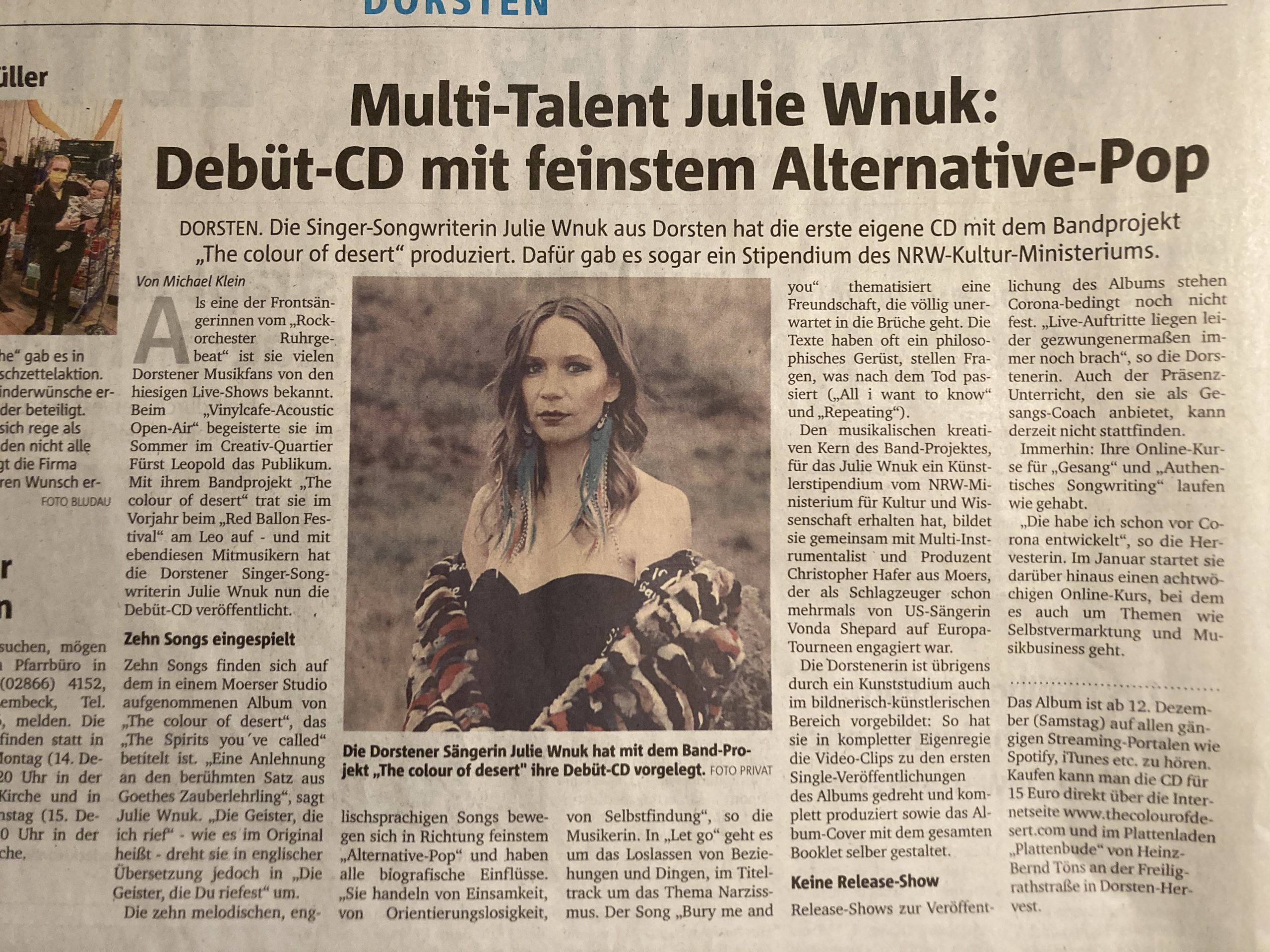 Multitalent Debüt CD feinster Alternative Pop